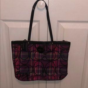 Pink/black/purple Coach purse